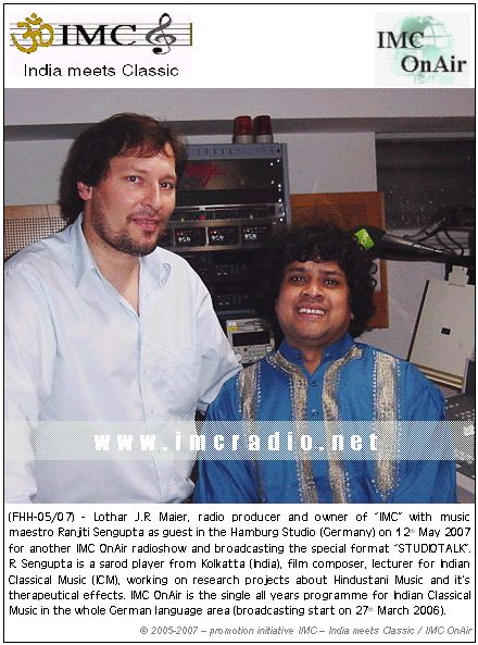 Ranajit Sengupta in our Hamburg Studio on May 12th 2007