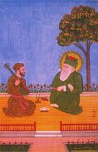 Amir Khusro and Hazrat Nizam-ud-Awaliya (Hyderabad, circa 1750-70 A.D., National Museum, New Delhi)