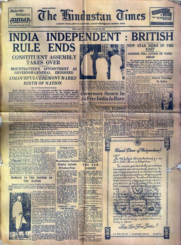 India-independent-The-British-Rule-Ends