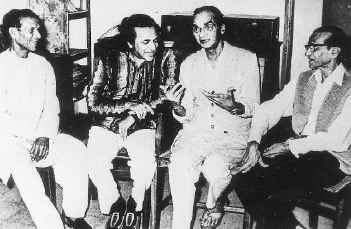 The four brothers (from left):Debendra Shankar, Pandit Ravi Shankar, Uday Shankar, Rajendra Shankar.
