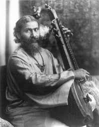 Hazrat Inayat Khan with Veena (Source: WIkipedia.org)