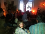 the audience of 3 generations full of expectations shortly before start of the house concert at 09:00 pm (30th May 2014)