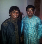 house concert on 30th May 2014 with Subrata Manna (left) and Debanjan Bhattacharjee (right)