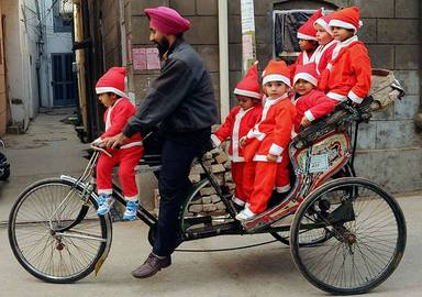 Patiala school children on Xmas... Picture of the Month