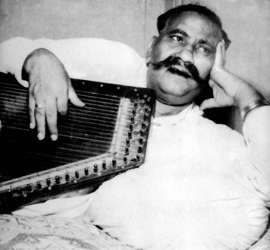 Hindustani classical vocalist Bade Ghulam Ali Khan (2 April 1902 – 25 April 1968) from the Patiala Gharana (source: www.ustadbadeghulamalikhanmusicgharana.com )