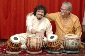Pandit Shankar Gosh with son Bikram