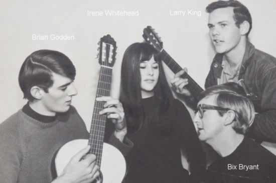 IMAGE: BRIAN GODDEN WITH THE LIBERTY SINGERS IN 1964